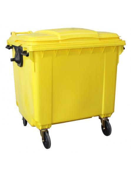 1100 Litre Wheeled Bins. YELLOW