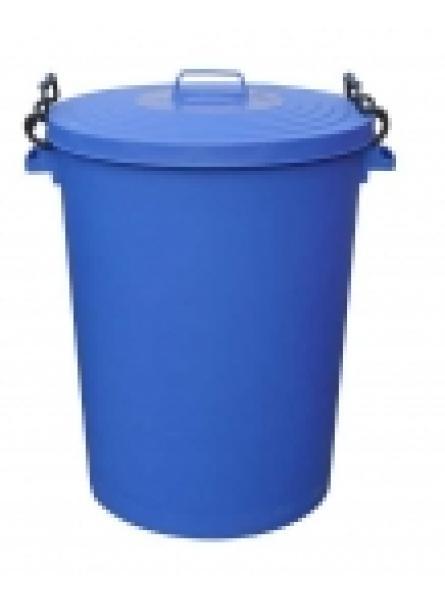 110ltr Bin C/W Clipon Lid Blue