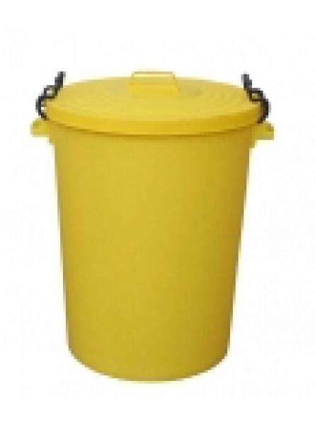 110LTR BIN C/W CLIPON LID YELLOW