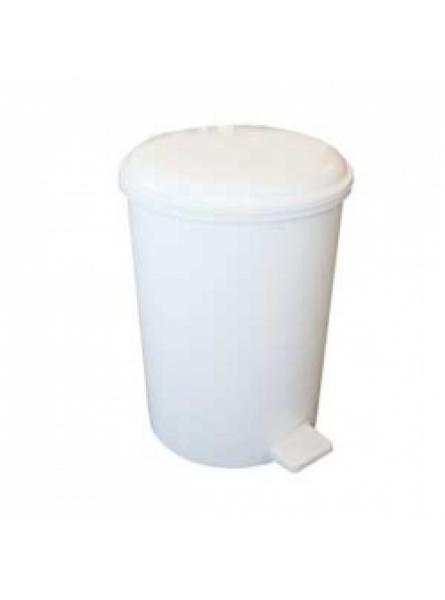 12 Litre Plastic Pedal Bin White