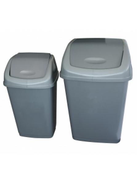 25 Litre Swing Bin Grey X 24 Pack