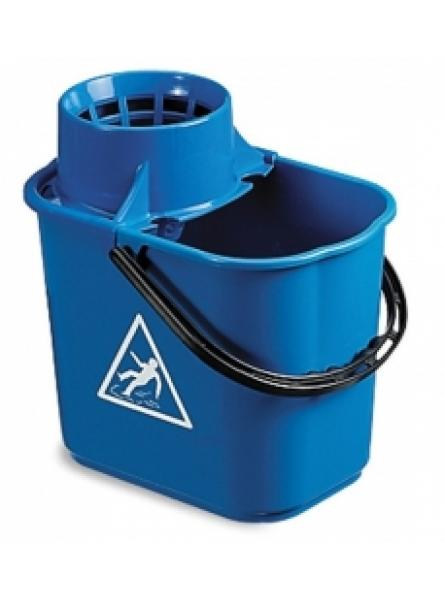12L Blue Plastic Bucket with Squeezer