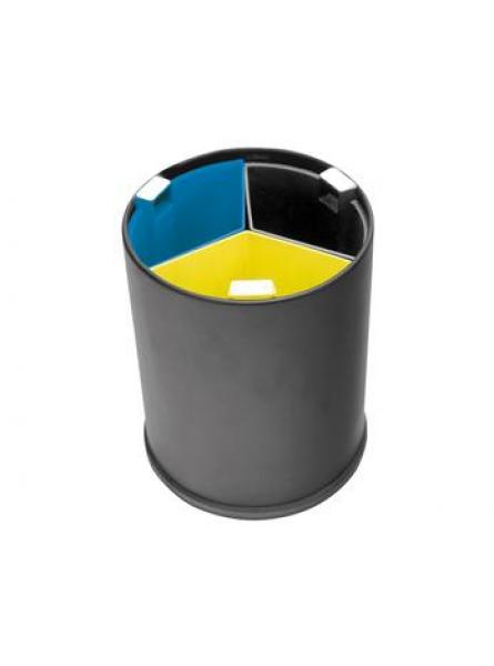 13l Waste Separation Basket Black Glavanised Steel