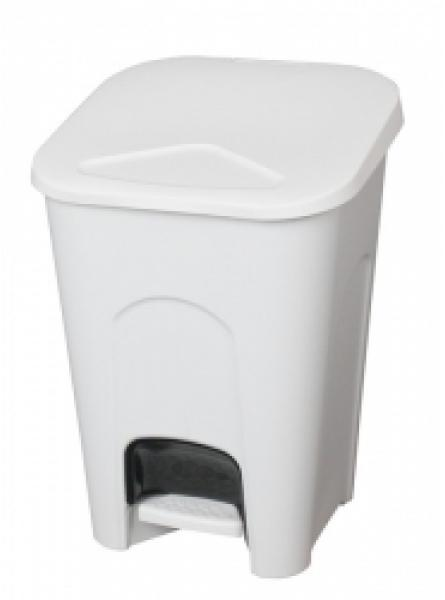 16 L waste pedal bin with liner plastic white