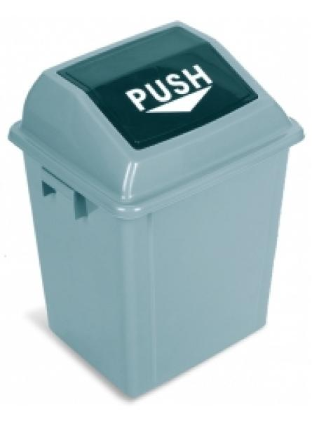 25l Swing Top Bin Grey