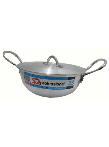 23Cm-4.0L Aluminium Karahi With Lid Cookware  Karahi Pot And Pan