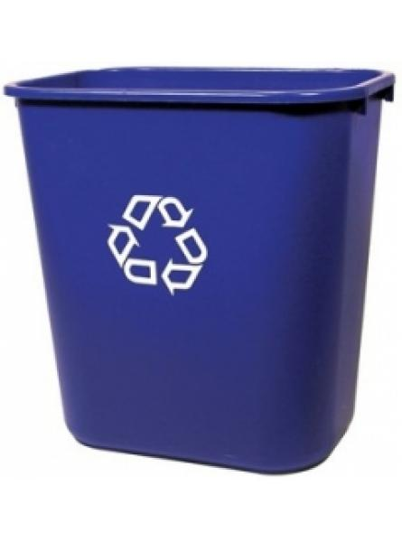 26.5ltr Blue Rectangular Wastebasket Per 12