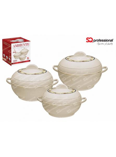 3 Piece Ambiente Hot Pot, Cream