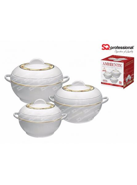 3 Piece Ambiente Hot Pot, White