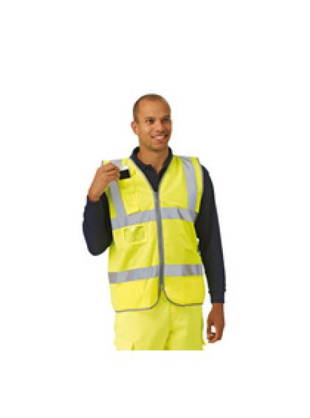Keep Safe EN 471 High Visibility Waistcoat with Phone Pocket