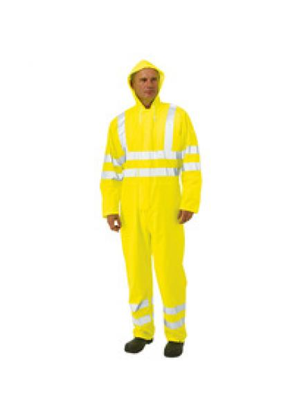 Coated High Visibility Waterproof Coverall