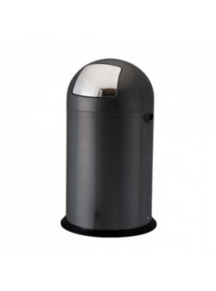 40L to 52L Steel Push Bins Black