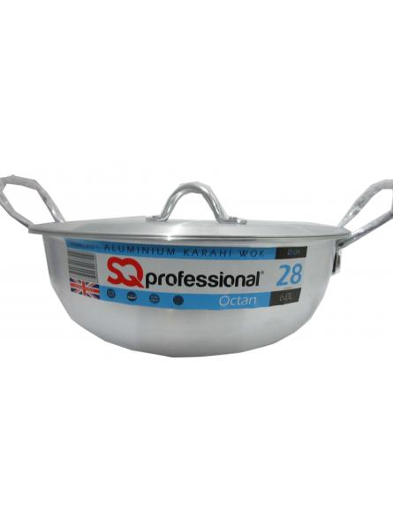 28Cm-6.0L Aluminium Karahi With Lid Cookware  Karahi Pot And Pan.