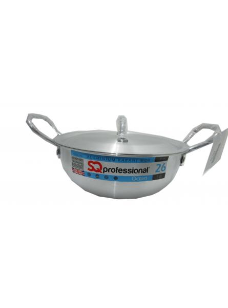 26Cm-5.0L Aluminium Karahi With Lid Cookware  Karahi Pot And Pan.