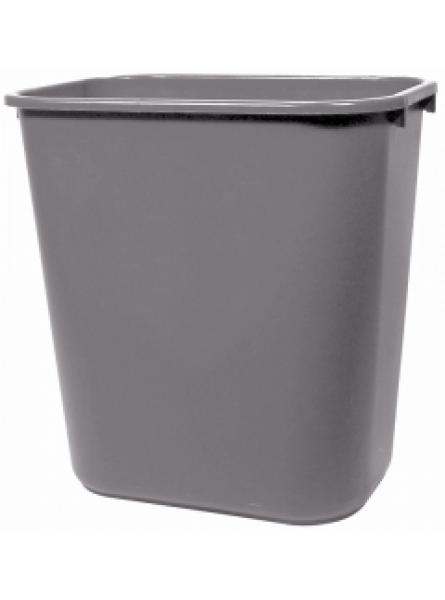 26.5 Ltr Grey Rectangular Wastebasket Per 12