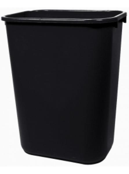 39 Ltr Black Lge Capacity Waste Basket Per 12