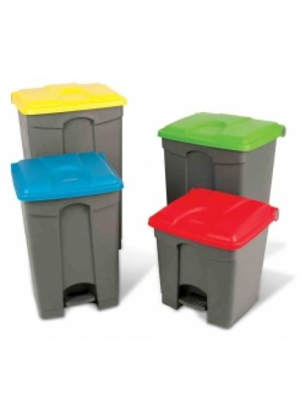 30l Step-On Container Grey Base Blue Lid