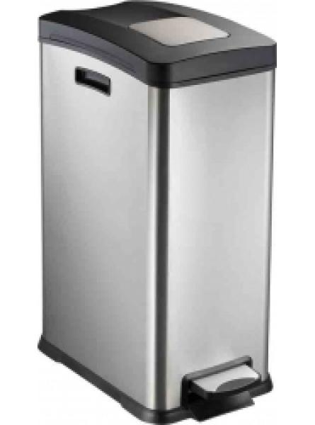 30l Pedal Bin Pp Lid & Liner Brushed Fingerprint Proof S/S