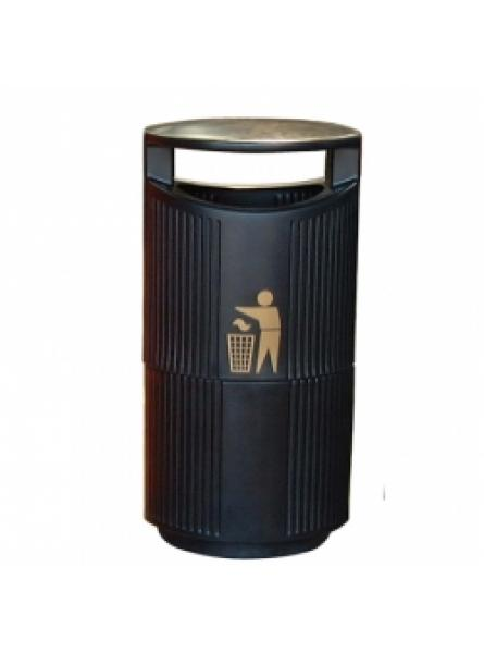 94 Litre Hooded Top Bin C/W Galv.Liner And Lock, Black