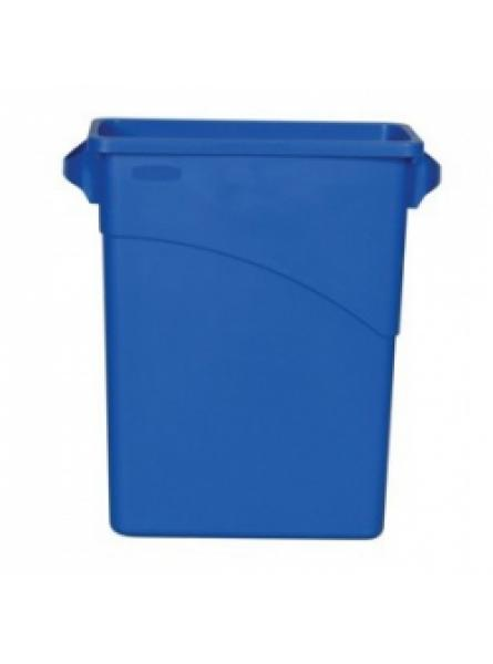 60 Litre Slim Jim Waste Container with Handles Blue