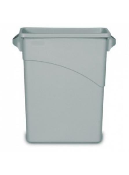 60 Litre Slim Jim Waste Container with Handles Grey