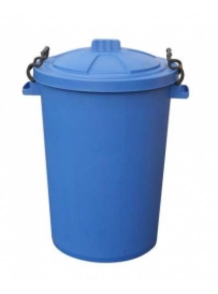 85 Ltr Bin C/W Clipon Lid Blue