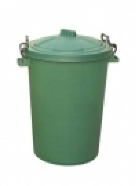 85 LTR BIN C/W CLIPON LID GREEN