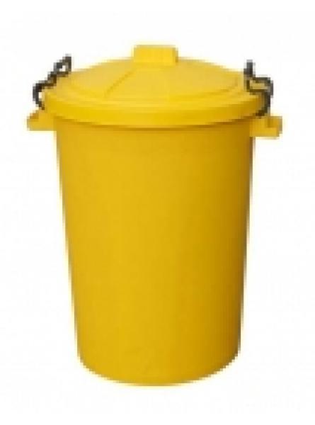 85 Ltr Bin C/W Clipon Lid Yellow
