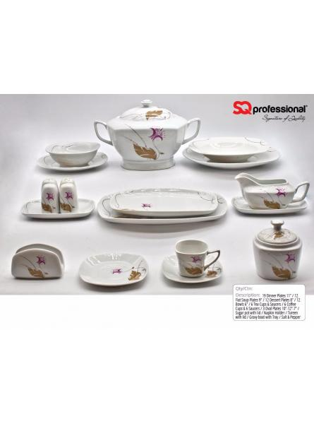 86 pieces Luxury porcelain dinner set