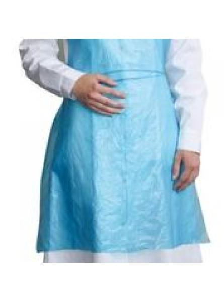 Disposable PE Bib Apron Blue