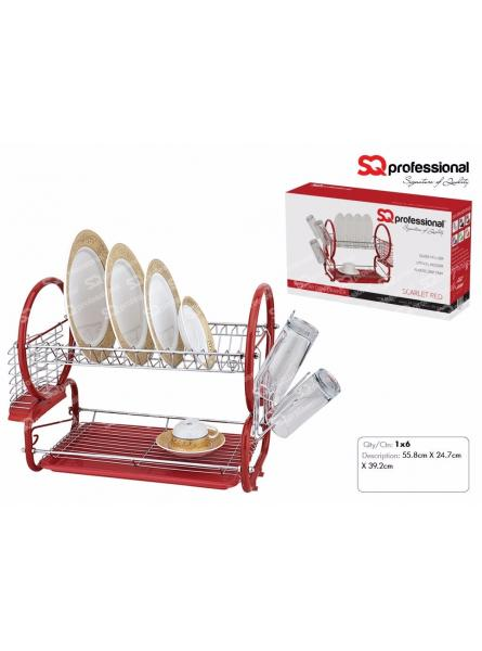 DISH DRAINER. SCARLET  RED