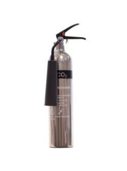 2kg Polished Aluminium Co2 Fire Extinguisher