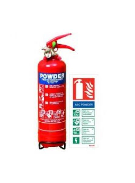 1kg Powder Fire Extinguisher with LPCB Approval
