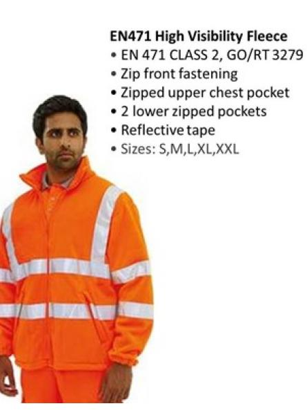 GORT Hi-vis Orange Fleece