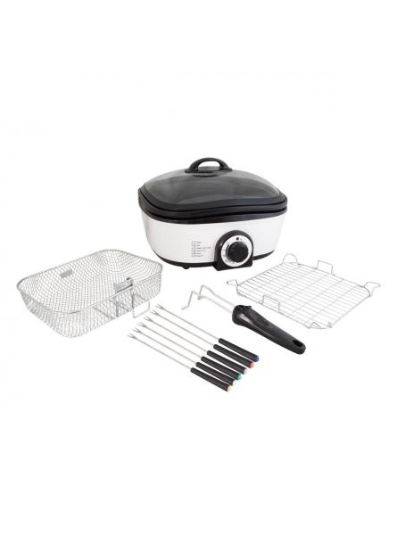 Quest 8-in-1 Multi-Function Cooker with Accessories, 5 Litre, 1300 Watt, White