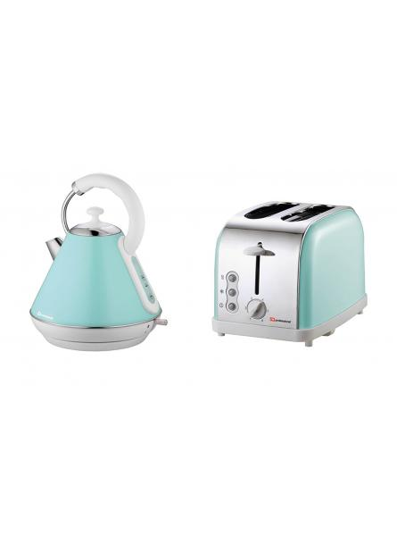 Matching kitchen set of two items electric kettle bread for Matching kitchen sets