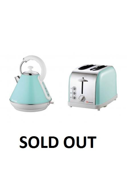 Matching Kitchen Set Of Two Items Electric Kettle And Toaster Light Blue Ikp4976