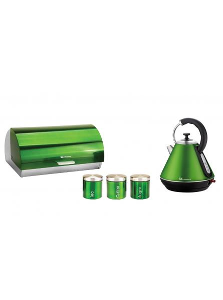 Matching kitchen set of two items electric kettle bread for Kitchen set items