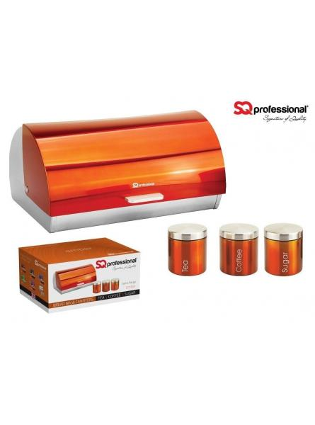 Bread Bins And Canisters– Orange (Amber)