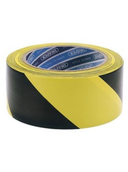 33M x 50mm Black and Yellow Adhesive Hazard Tape Roll