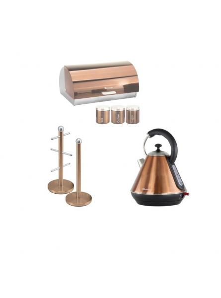 Matching Set: Mug tree+Kettle+Bread Bin and canisters in Copper