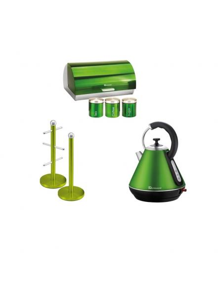 Matching Set: Mug tree+Kettle+Bread Bin and canisters in Green