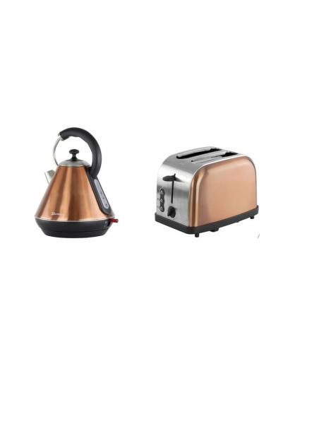 Matching Set: Toaster + Kettle In Copper