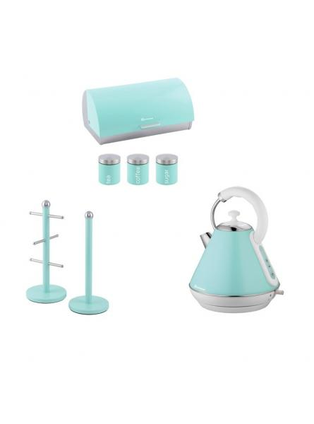 Matching Set: Mug tree+Kettle+Bread Bin and canisters in Mint Green