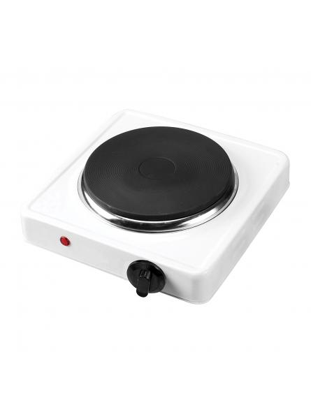 Electric Hot Plate with Single Ring 1000W – White