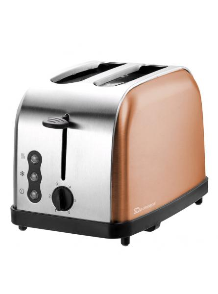 AXINITE TOASTER - REHEAT, DEFROST & CANCEL, STAINLESS STEEL, COPPER