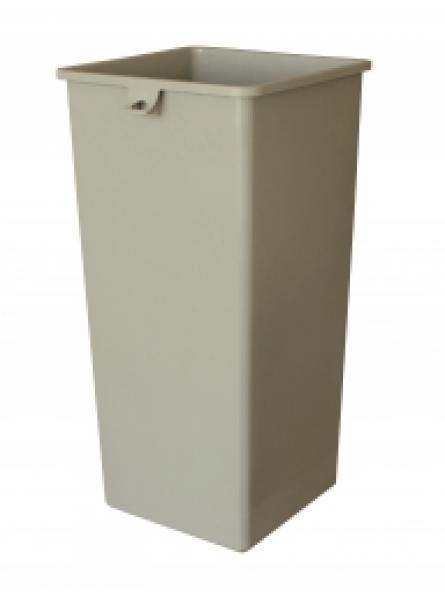 87L Square Recycling Bin With Bag Pull Beige