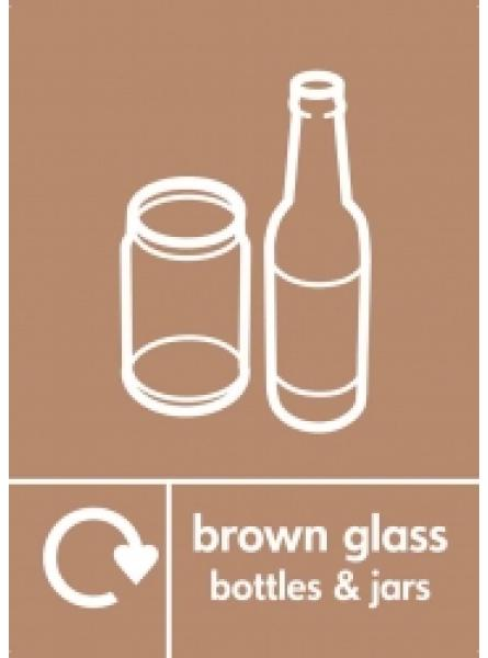 BROWN GLASS BOTTLES AND JARS LABEL BROWN