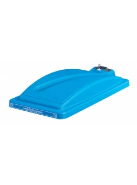 Confidential Lid Slimline Bins Blue