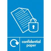 CONFIDENTIAL PAPER LABEL BLUE